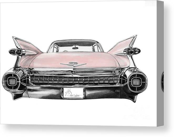 pink cadillac canvas print canvas art by murphy elliott pink cadillac canvas print
