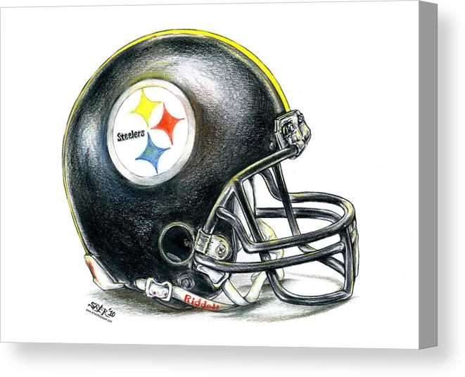 Pittsburgh Steelers Helmet Canvas Print Canvas Art By James Sayer