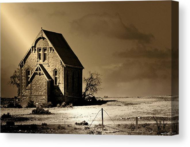 Landscapes Canvas Print featuring the photograph Praying for Rain 2 by Holly Kempe