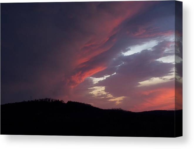 Red Clouds Canvas Print featuring the photograph Red Clouds 2 by Toni Berry