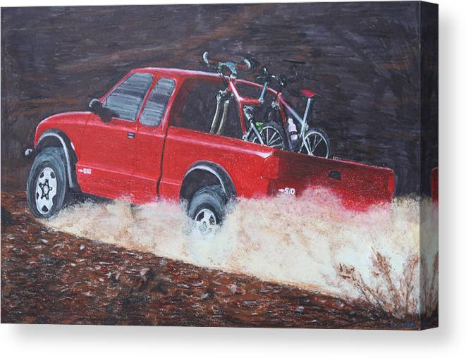 Truck Canvas Print featuring the drawing S10 by Tammy Dunn