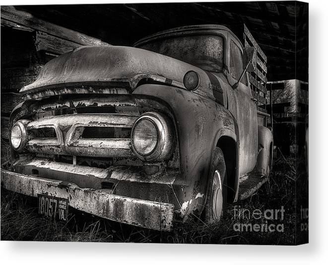 Scotopic Canvas Print featuring the photograph Scotopic Vision 6 - 53 Ford by Pete Hellmann