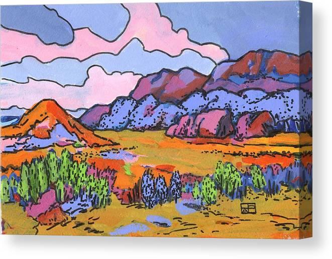 Landscape Canvas Print featuring the painting South West Landscape by Helen Pisarek
