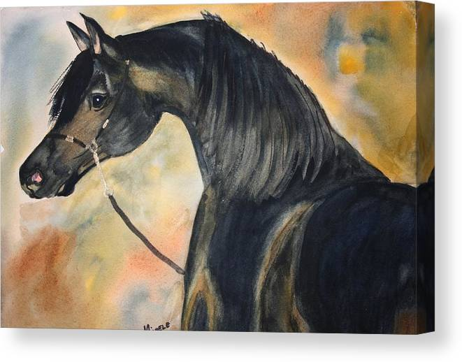 Horses Canvas Print featuring the painting Sunlit Splendor by Michele Turney