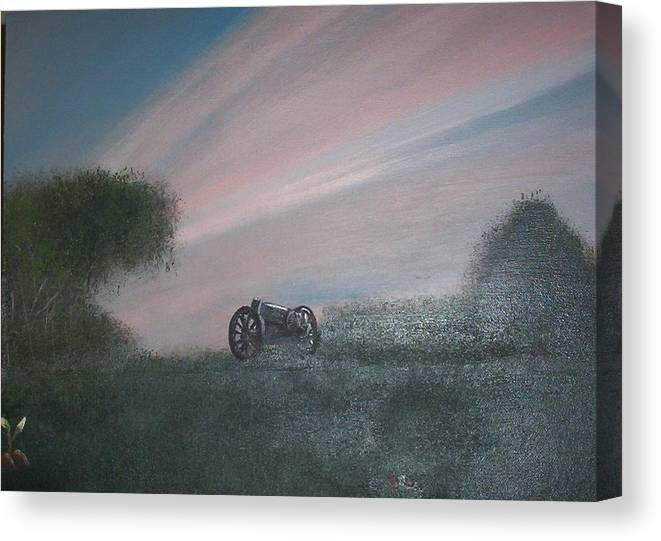Sunset Canvas Print featuring the painting Sunset Canon by Rana Adamchick