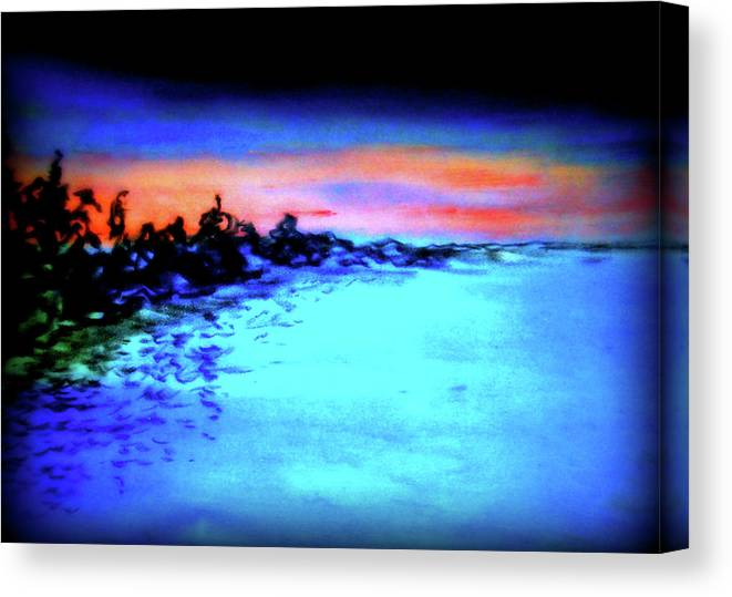 Depth Canvas Print featuring the pastel Sunset by Pam Ellis