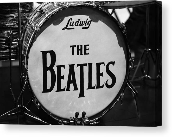 The Beatles Drum Canvas Print featuring the photograph The Beatles Drum by Dan Sproul