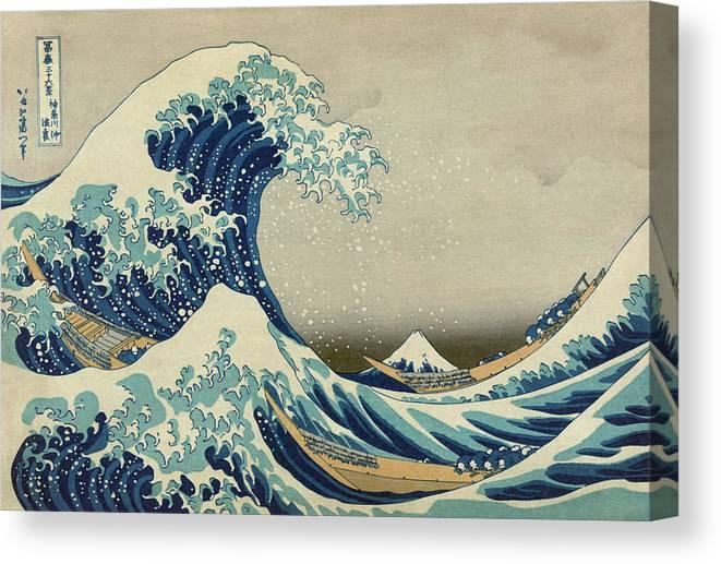 Japanese art The Great Wave off Kanagawa Hokusai  split canvas prints wall art