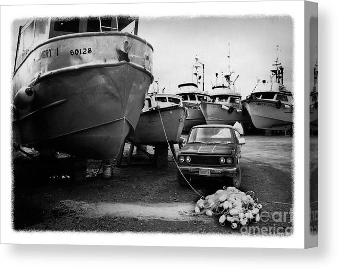 Alaska Canvas Print featuring the photograph The Real Alaska - Dry Dock 1 by Pete Hellmann