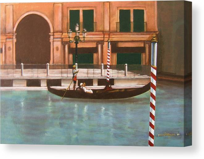 Smooth Sailing Canvas Print featuring the painting Venetian Number Two by Howard Stroman