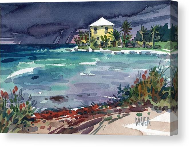 Key West Canvas Print featuring the painting Yellow Bungalow by Donald Maier