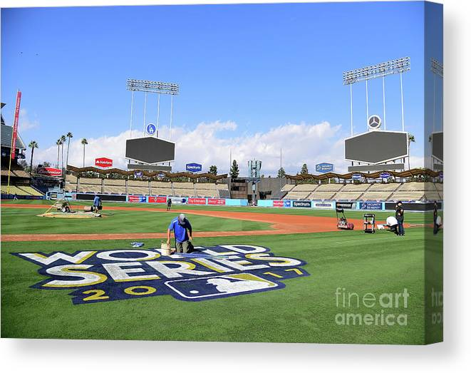American League Baseball Canvas Print featuring the photograph 2017 World Series Previews - Los by Harry How