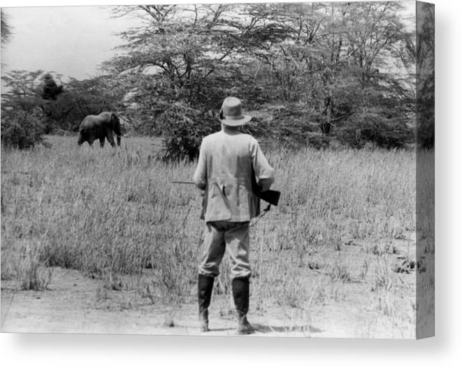 Kenya Canvas Print featuring the photograph Ernest Hemingway On Safari by Earl Theisen Collection