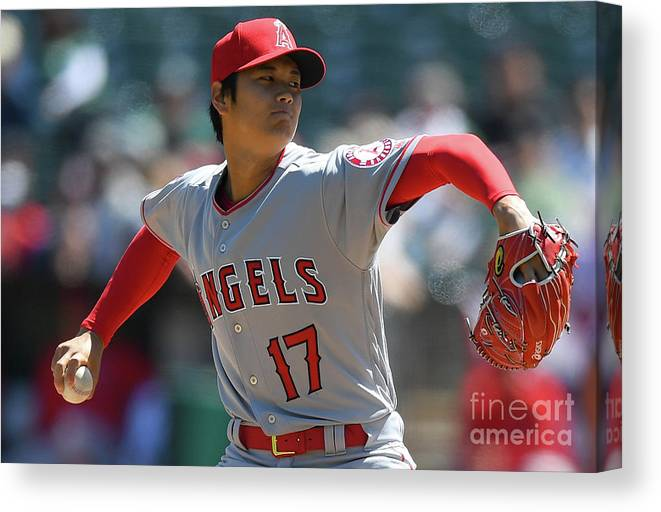 People Canvas Print featuring the photograph Los Angeles Angels Of Anaheim V by Thearon W. Henderson