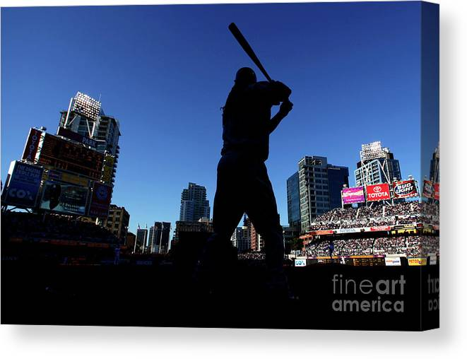 Opening Ceremony Canvas Print featuring the photograph Los Angeles Dodgers V San Diego Padres by Donald Miralle
