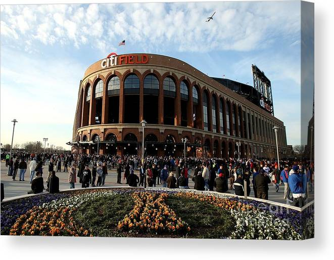 Residential District Canvas Print featuring the photograph San Diego Padres V New York Mets by Ezra Shaw