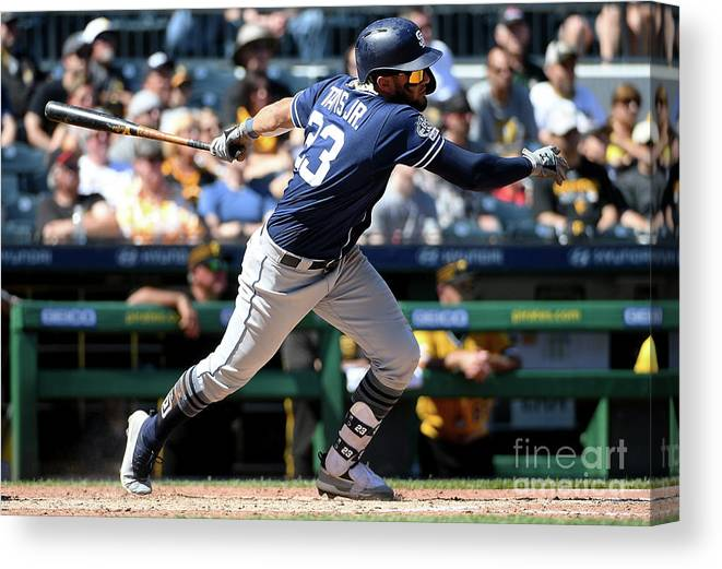 People Canvas Print featuring the photograph San Diego Padres V Pittsburgh Pirates by Justin Berl