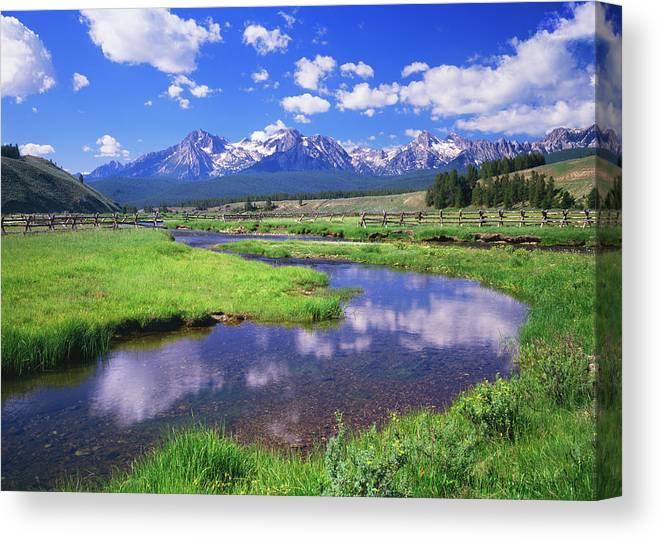 Scenics Canvas Print featuring the photograph Sawtooth Mountain Range, Idaho by Ron thomas