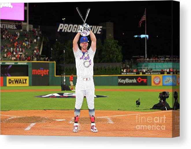 People Canvas Print featuring the photograph T-mobile Home Run Derby by Gregory Shamus