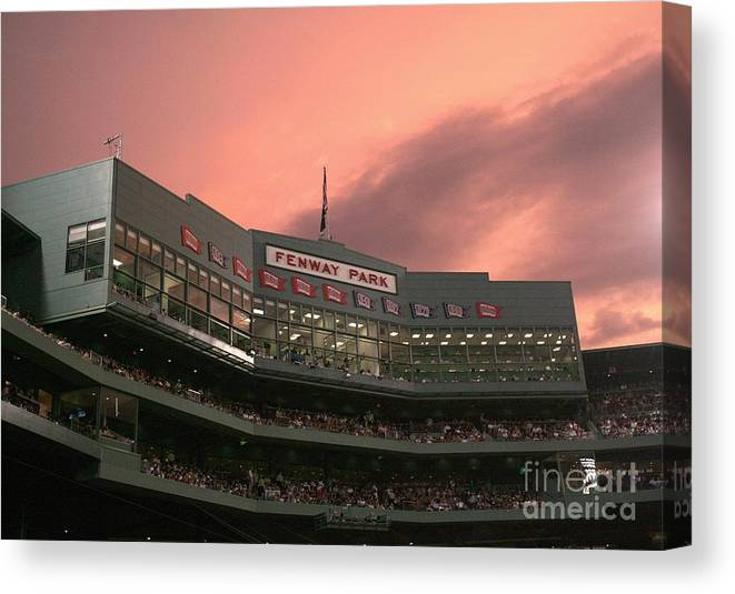 American League Baseball Canvas Print featuring the photograph Toronto Blue Jays V Boston Red Sox by Elsa
