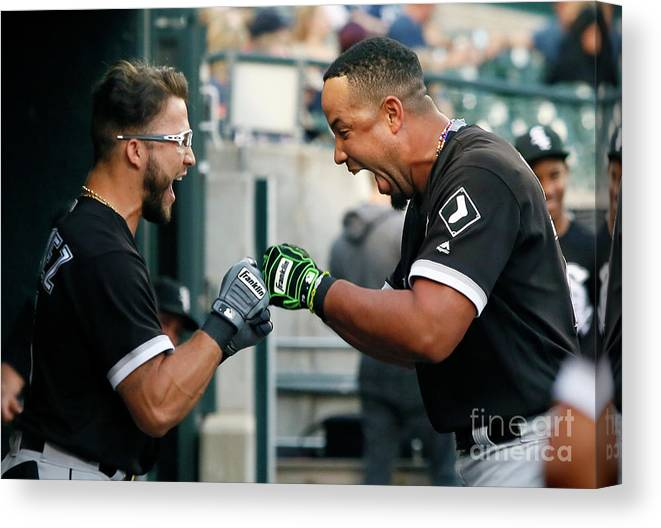 American League Baseball Canvas Print featuring the photograph Chicago White Sox V Detroit Tigers by Duane Burleson