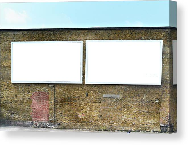 Empty Canvas Print featuring the photograph 2 Blank Billboards by Ben Richardson