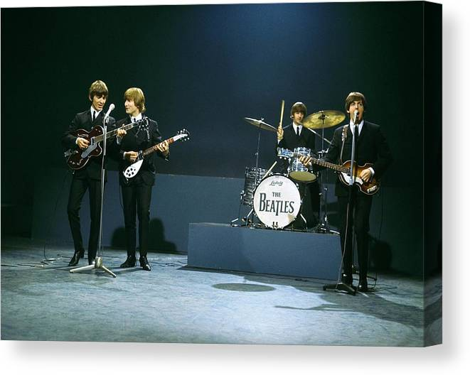 People Canvas Print featuring the photograph Photo Of Beatles by David Redfern