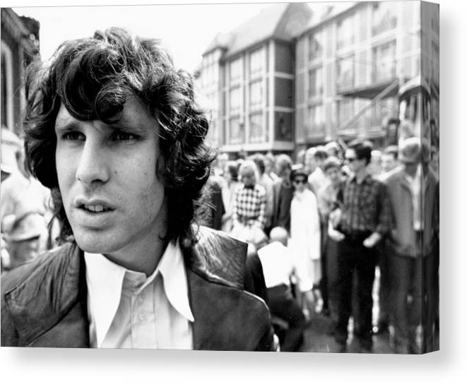 Horizontal Canvas Print featuring the photograph Photo Of Jim Morrison by Michael Ochs Archives