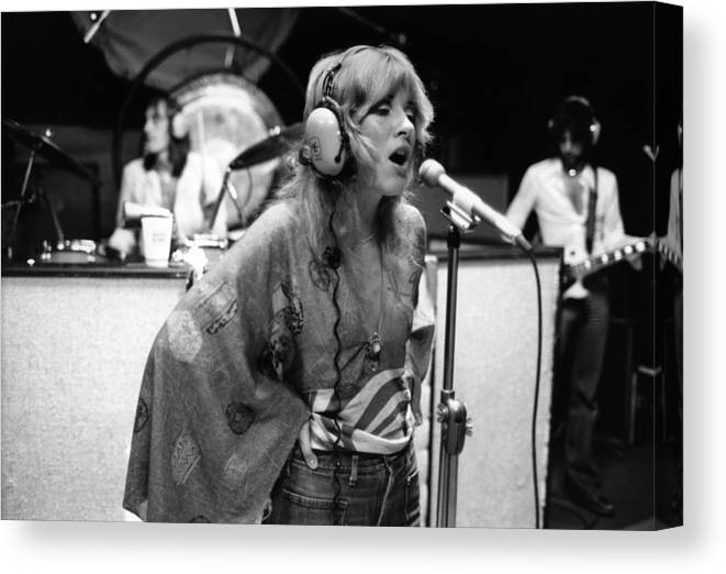 Music Canvas Print featuring the photograph Photo Of Stevie Nicks And Fleetwood Mac by Fin Costello