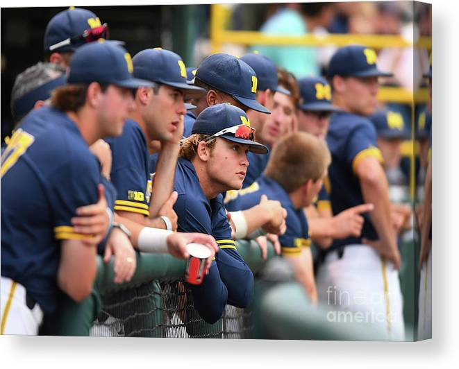 People Canvas Print featuring the photograph Michigan V Ucla - Game One by Jayne Kamin-oncea