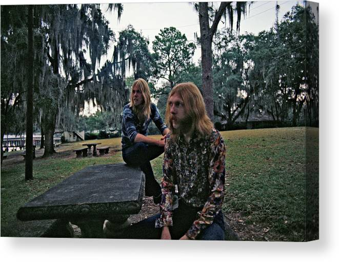 Horizontal Canvas Print featuring the photograph Photo Of Allman Brothers by Michael Ochs Archives
