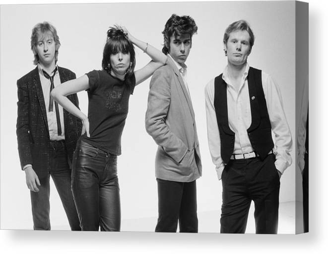 People Canvas Print featuring the photograph The Pretenders by Fin Costello