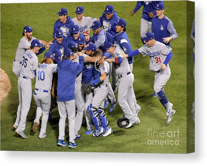 Championship Canvas Print featuring the photograph League Championship Series - Los by Dylan Buell