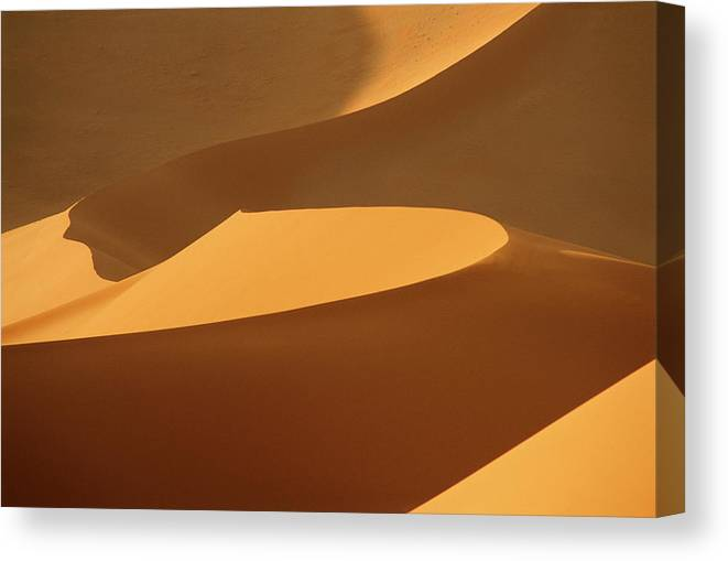 Shadow Canvas Print featuring the photograph Africa, Namibia, Sand Dunes, Full Frame by Peter Adams