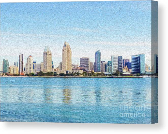 Art Canvas Print featuring the digital art Americas Finest City by Kenneth Montgomery