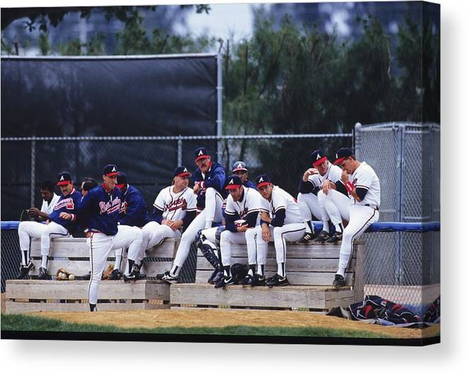 Florida Canvas Print featuring the photograph Atlanta Braves by Ronald C. Modra/sports Imagery