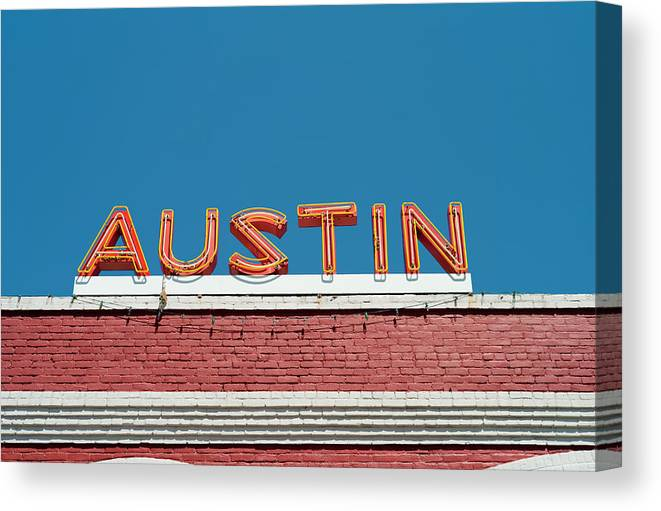 Sunlight Canvas Print featuring the photograph Austin Neon Sign by Austinartist