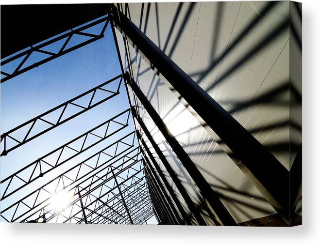 Shadow Canvas Print featuring the photograph Building Abstract by Maximgostev