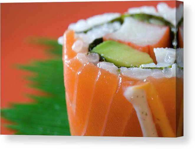 Asian And Indian Ethnicities Canvas Print featuring the photograph Colorful Sushi by Creativeye99