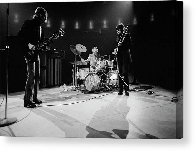 Music Canvas Print featuring the photograph Cream At Madison Square Garden by Michael Ochs Archives