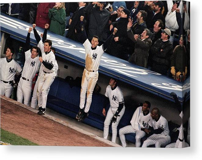 Celebration Canvas Print featuring the photograph Derek Jeter 2 by Jamie Squire