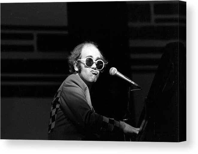 Rock Music Canvas Print featuring the photograph Elton Live by Robin Jones