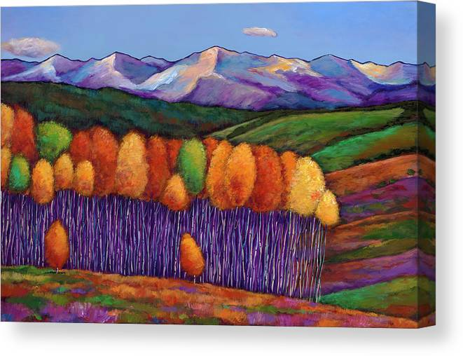 Aspen Trees Canvas Print featuring the painting Elysian by Johnathan Harris