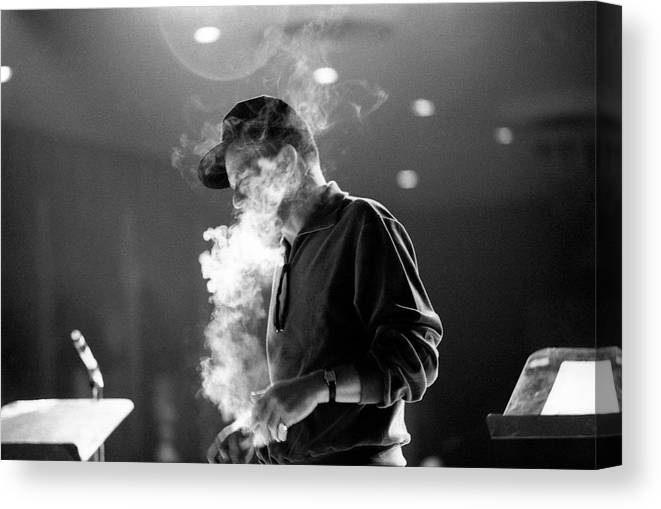 Frank Sinatra Canvas Print featuring the photograph Frank Sinatra During Rehearsals by John Dominis