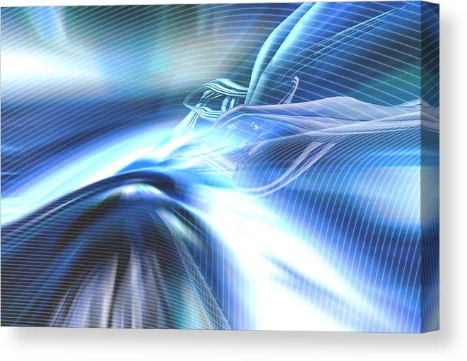 Computer Canvas Print featuring the photograph Futura01 Remix by Alwyncooper