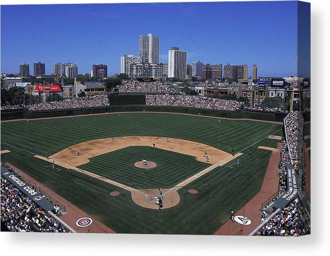 National League Baseball Canvas Print featuring the photograph General View by Ezra Shaw