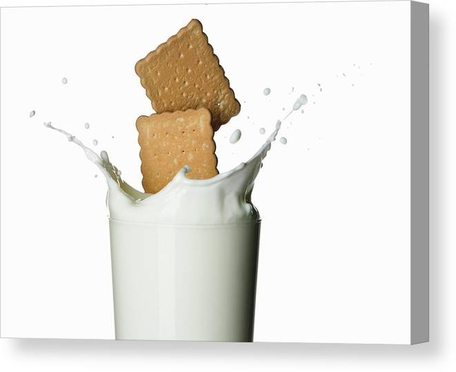 Milk Canvas Print featuring the photograph Glass Of Milk by Buena Vista Images
