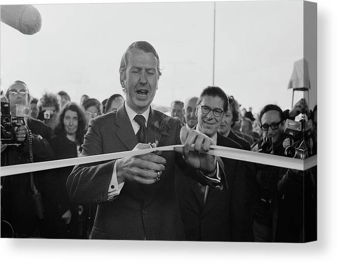 People Canvas Print featuring the photograph Gravelly Hill Interchange Opening by R. Viner