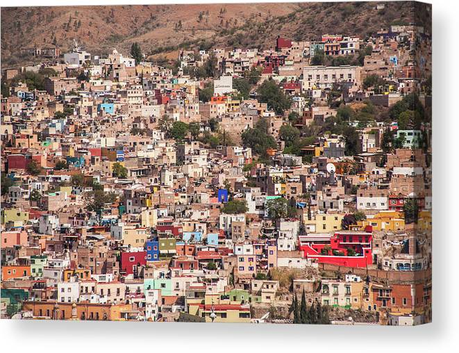 Scenics Canvas Print featuring the photograph Guanajuato by Maryann Flick