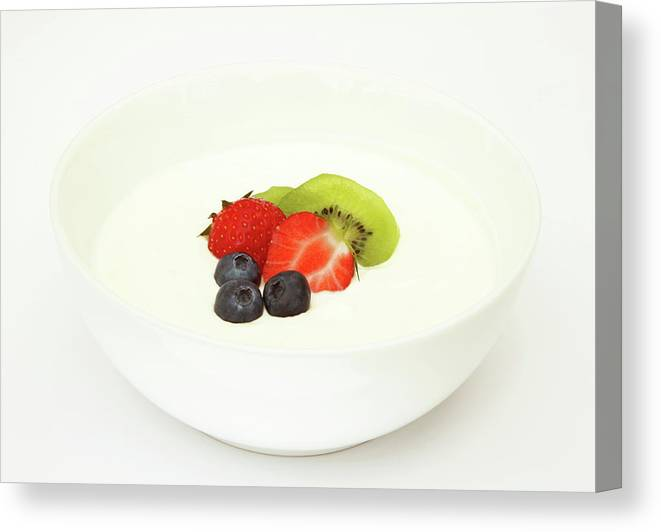 Breakfast Canvas Print featuring the photograph Healthy Breakfast, Snack Or Dessert by Rosemary Calvert